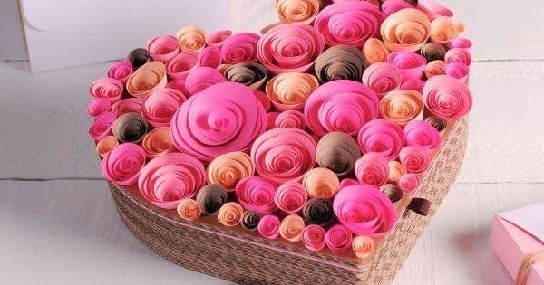 Como Decorar Un Corazon Con Rosas De Papel Valentines Diy Creative Gift Wrapping Valentine S Day Diy