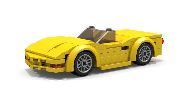 LEGO Chevrolet Corvette C5 Convertible sports car MOC instructions ...