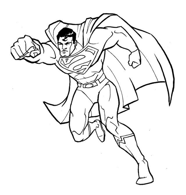 fantastic superman coloring page