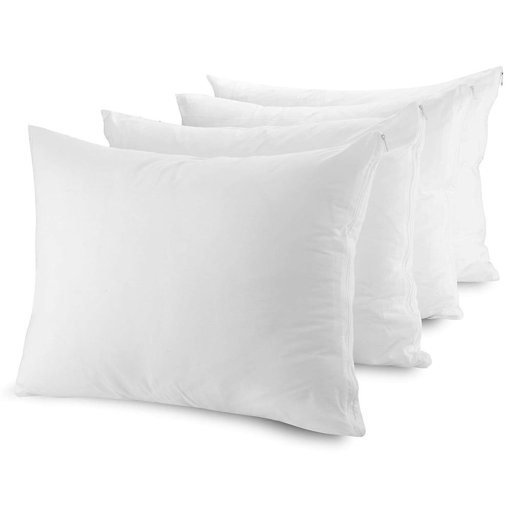 4 Pack Pillow Protector Cover King Size
