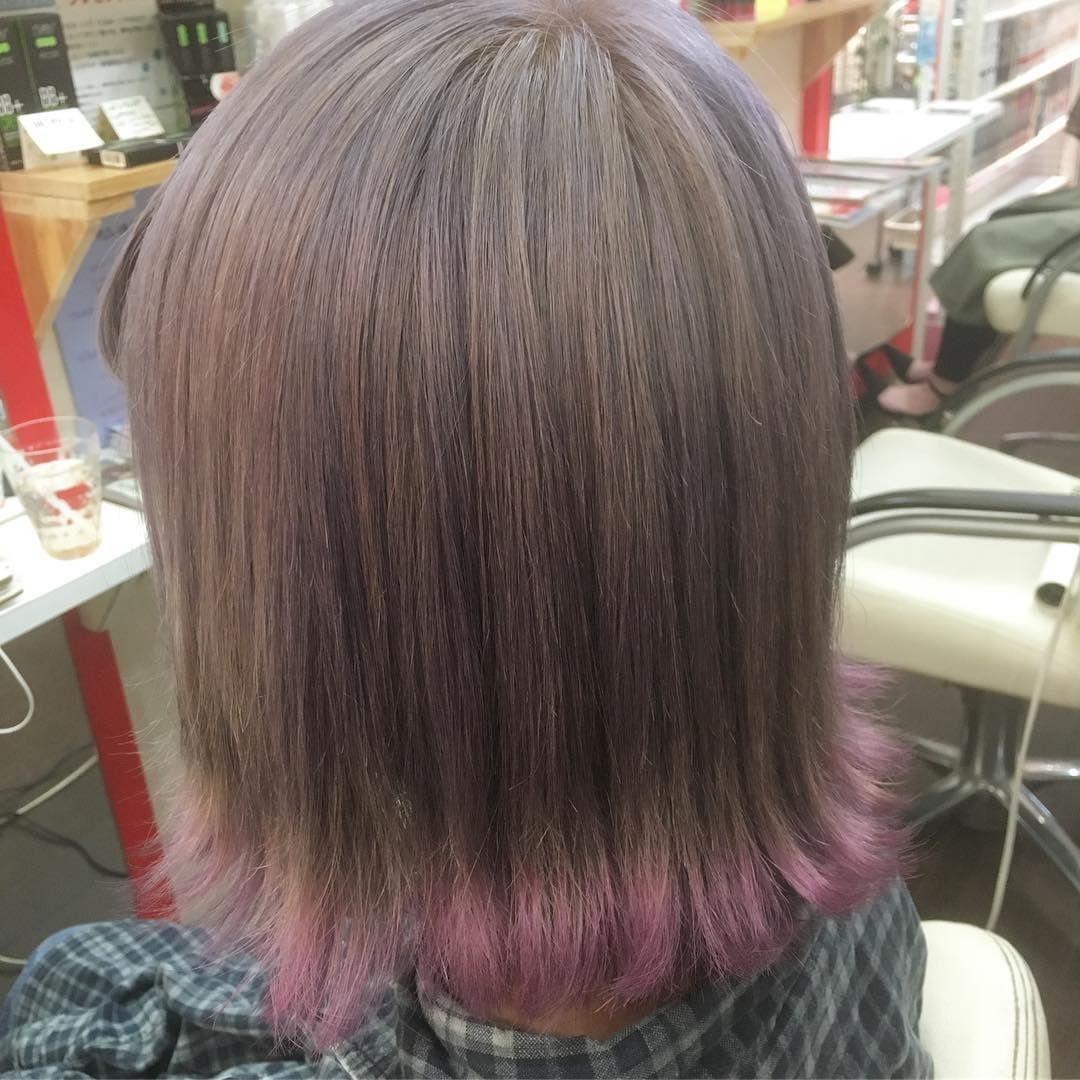 ピンクパープル ラインカラー おはようございます 秋冬には服の色