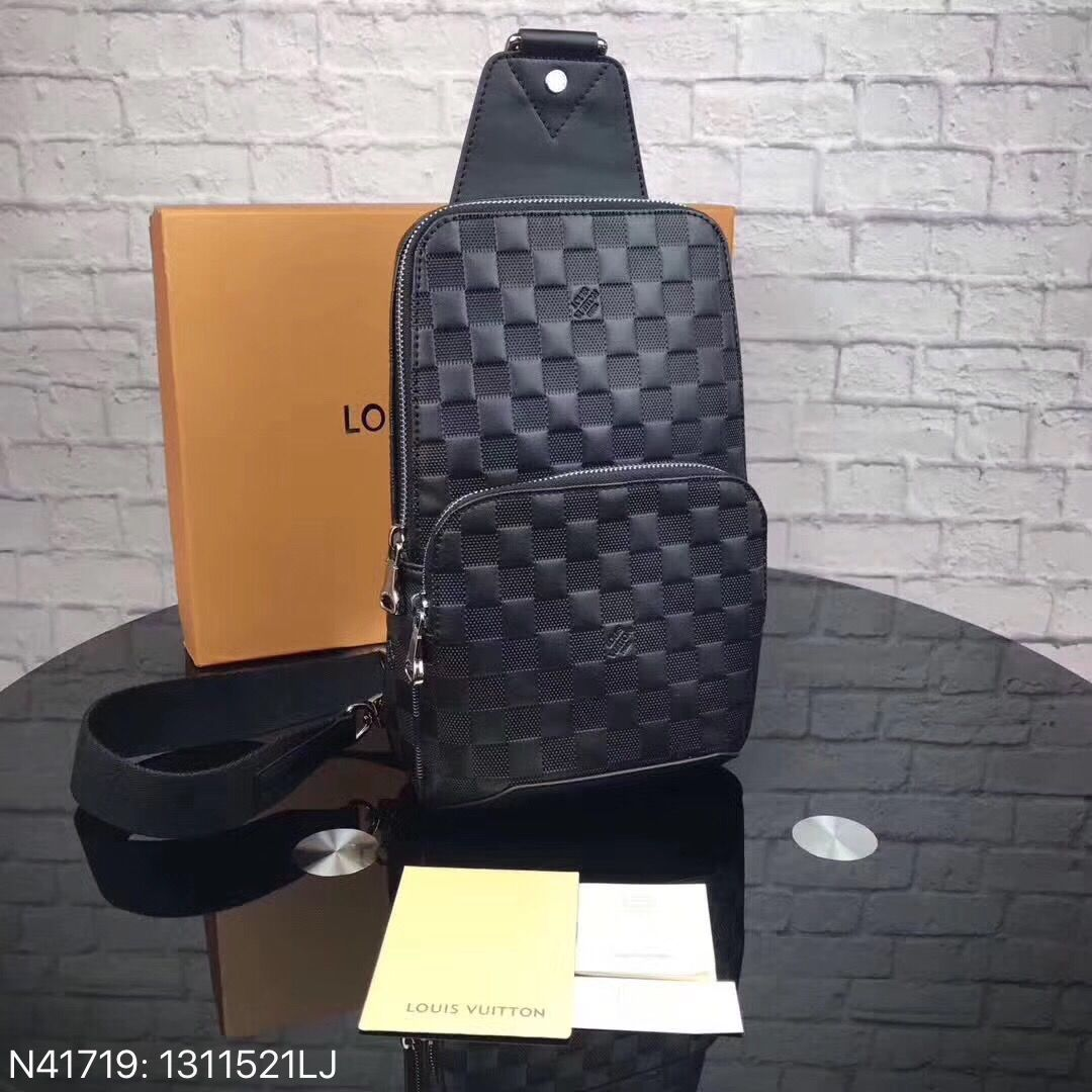 1232aacb2be5 Louis Vuitton lv man chest waist bag Damier infini leather