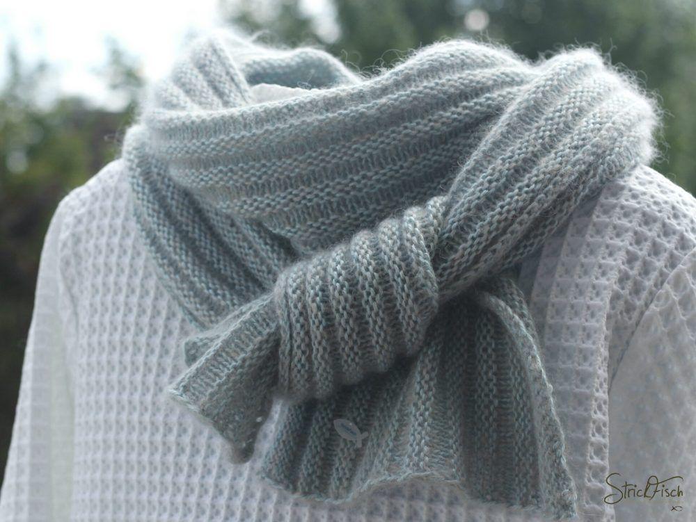 PIKOLI - einfachen Schal stricken | Schals, Gestrickte Schals und ...