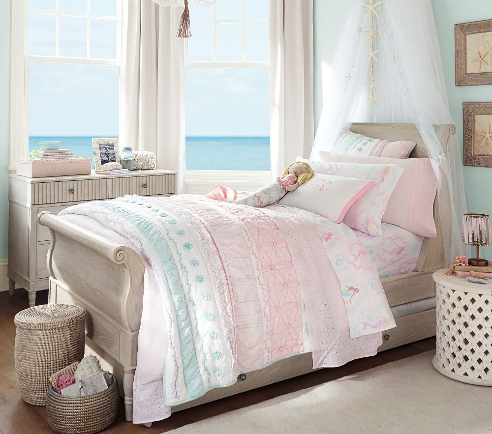 Mermaid Themed Girl's Room Pottery barn kids bedrooms