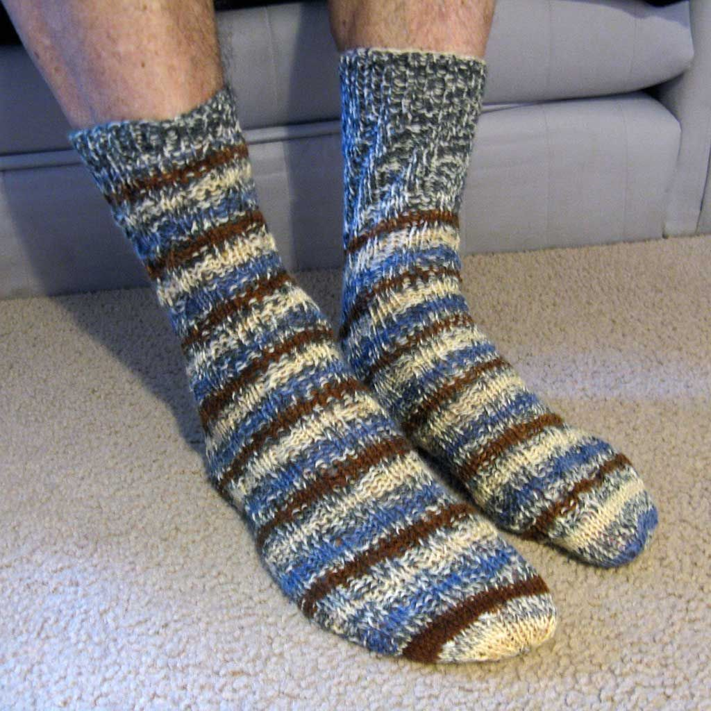 hubby wearing his socks | crochet | Pinterest | Tube socks, Socks ...