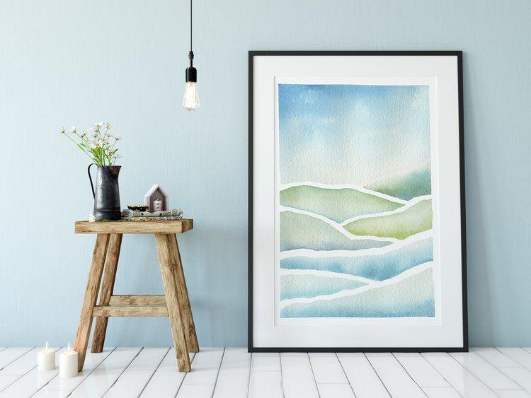Landscape Asara Design In 2020 Contemporary Watercolor Art