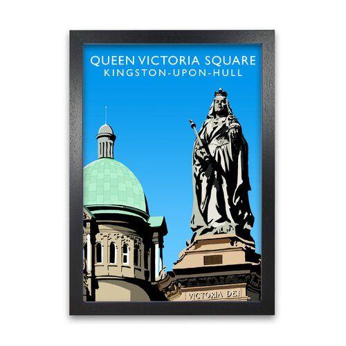 Photo of Gerahmtes Poster Queen Victoria Square von Richard O'Neill 17 Stories Rahmen-Optionen: Schwarz, Größe: 59,4 cm H x 42 cm B