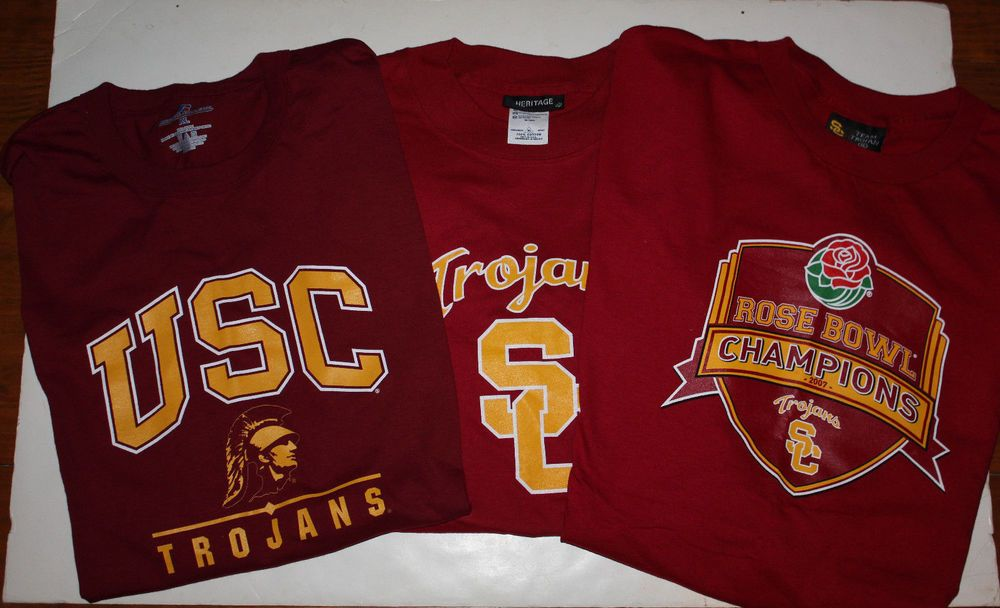 USC Trojans T-Shirts Lot Of 3 Size XL New w/o Tags  #RussellHeritageTeamTrojan #USCTrojans