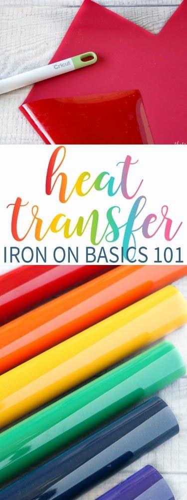 Heat Transfer Vinyl Basics - Iron on 101