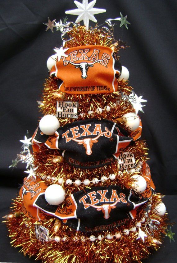 University of Texas Longhorn Christmas Tree by WhenRubyPearlSmiles