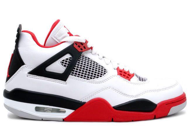 Cheap Discount Air Jordan 4 (IV) Retro Mars Blackmon (White / Varsity Red -  Black) For Sale