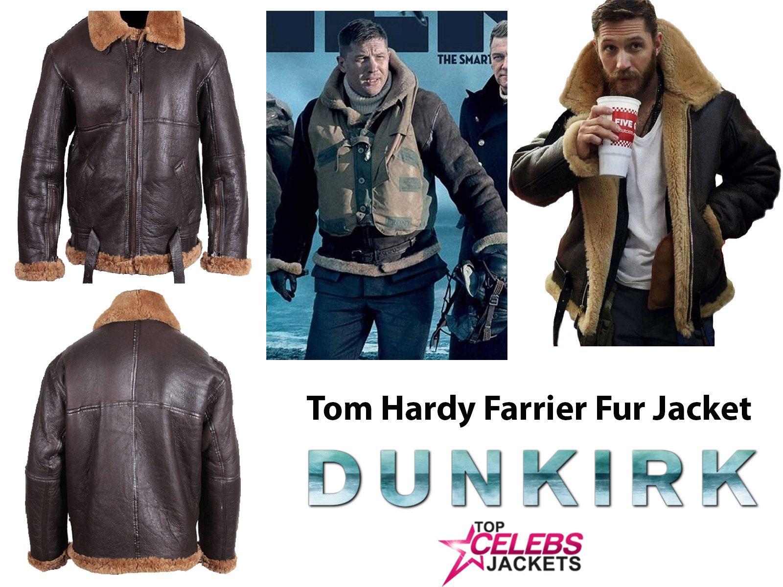 Dunkirk Tom Hardy Farrier Fur Outerwear Jacket Top Celebs Jackets Jackets Tom Hardy Shearling Jacket [ 1200 x 1600 Pixel ]