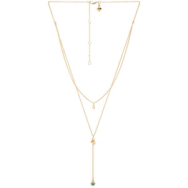 Rebecca Minkoff Pave Gem Layered Necklace in Metallic Gold lQROyzYa