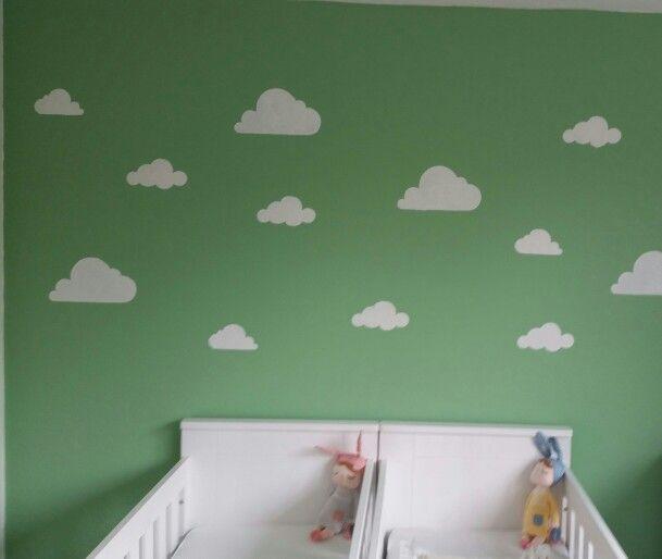 Sjablonen Voor Op De Muur.Wolken Muur Gemaakt Met Sjablonen Van Histor Trots Babykamer