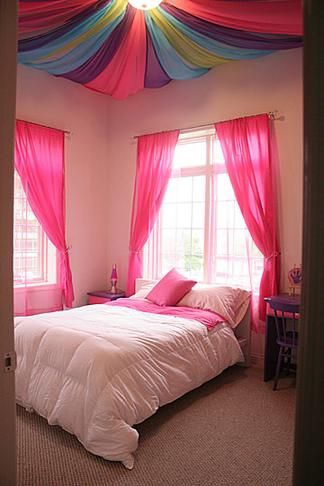 Google Image Result For Http://curtainscolors.com/hot Pink Bedroom  Window Curtains