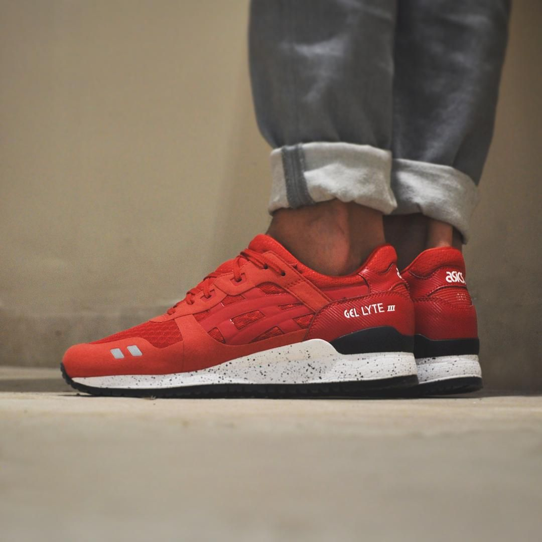 Pretty Nice Running Shoes Mens ASICS Tiger GEL Lyte III Red/Red NS