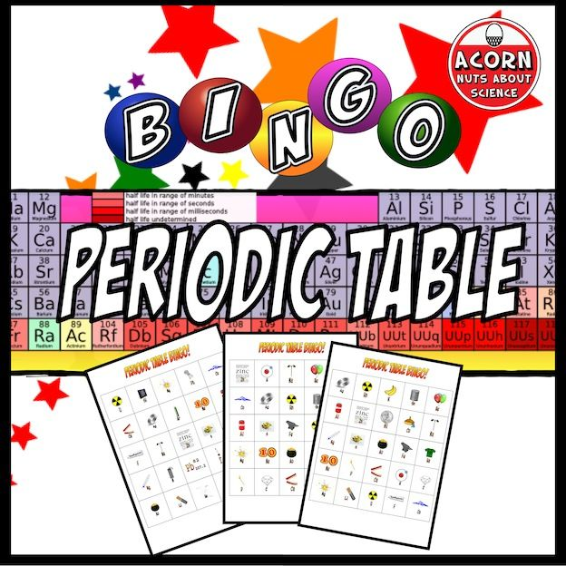 Periodic Table Bingo Chemistry Pinterest Differentiation
