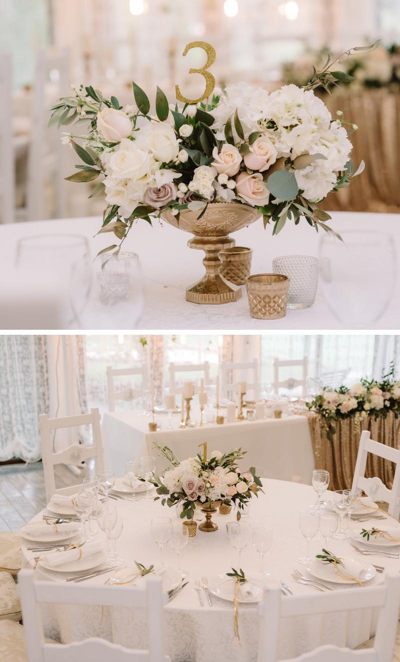Boda de glamour noble en oro y blanco – caja de boda