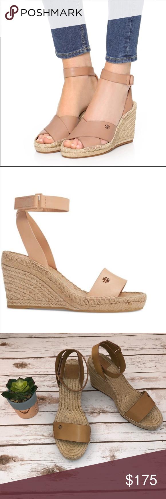 24a800312 Tory Burch Bima Wedge Espadrille Sandals Size 9.5 Gorgeous and trendy Bima  Wedge Espadrilles from Tory