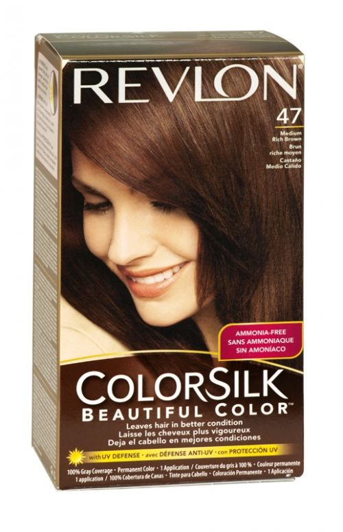 Revlon Colorsilk Hair Colour 47 Medium Rich Brown Revlon Colorsilk
