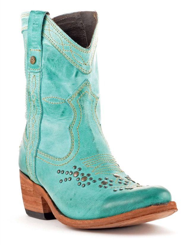 liberty black turquoise booties