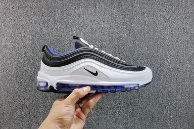0dda9ddbdcf Nike Air Max 97 Og Qs White Game Royal 921522102 Genuine 2018 Shoe ...