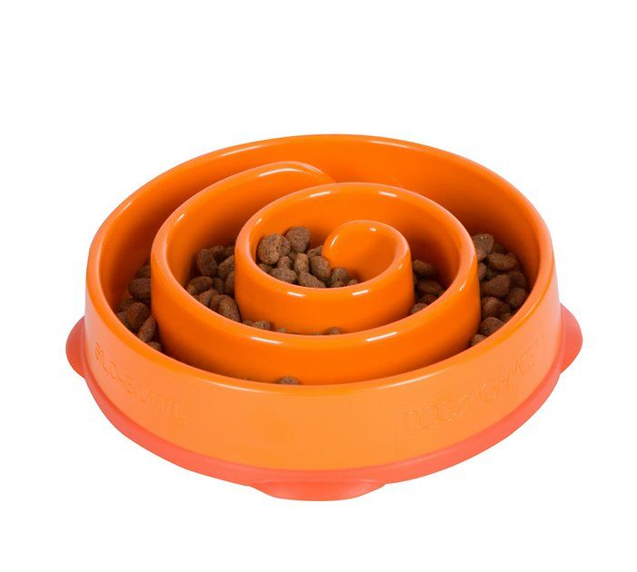 Outward Hound Fun Feeder Interactive Dog Bowl, Orange