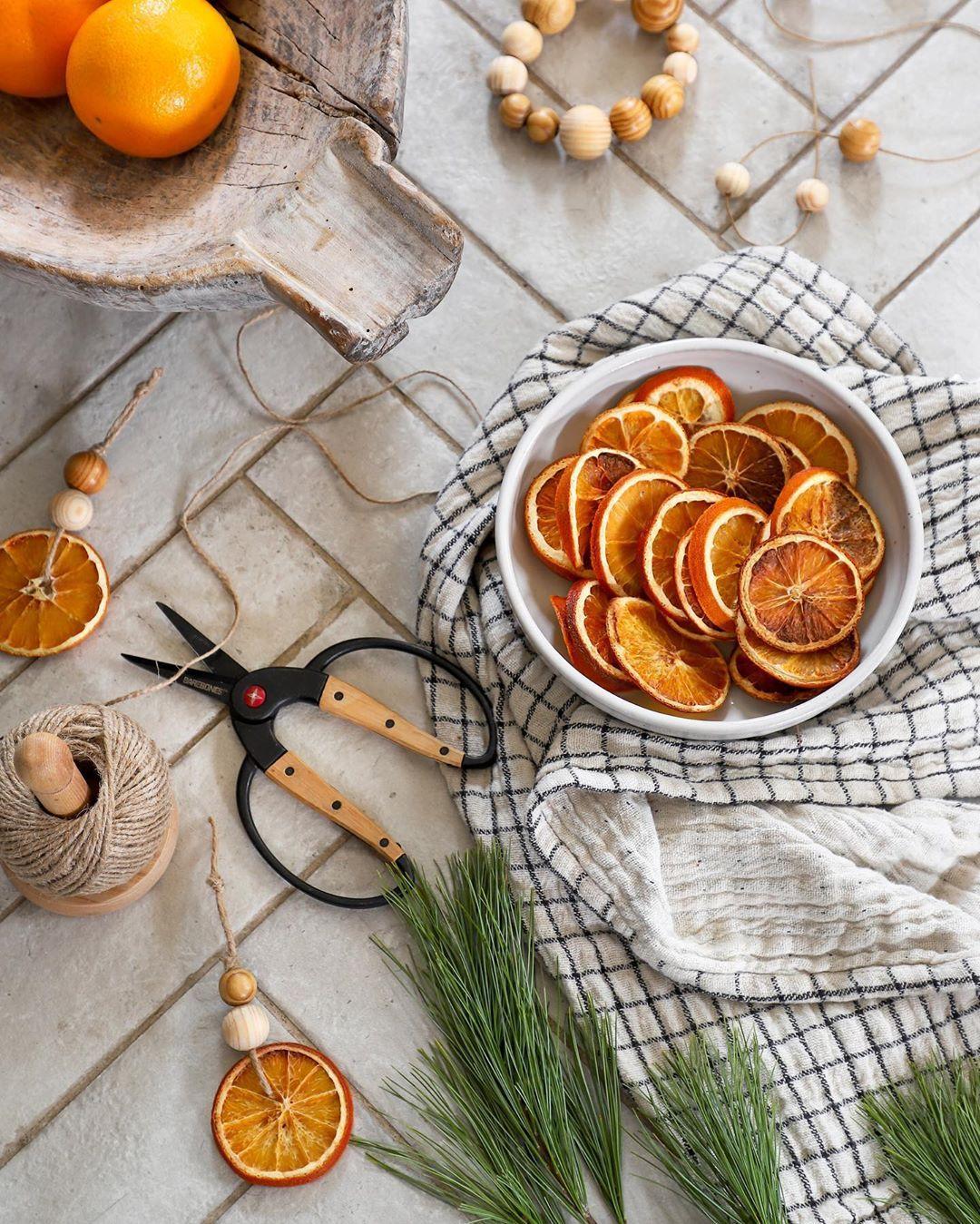 New DIY Tutorial Post! Dried Orange & Wood Ornaments, plus