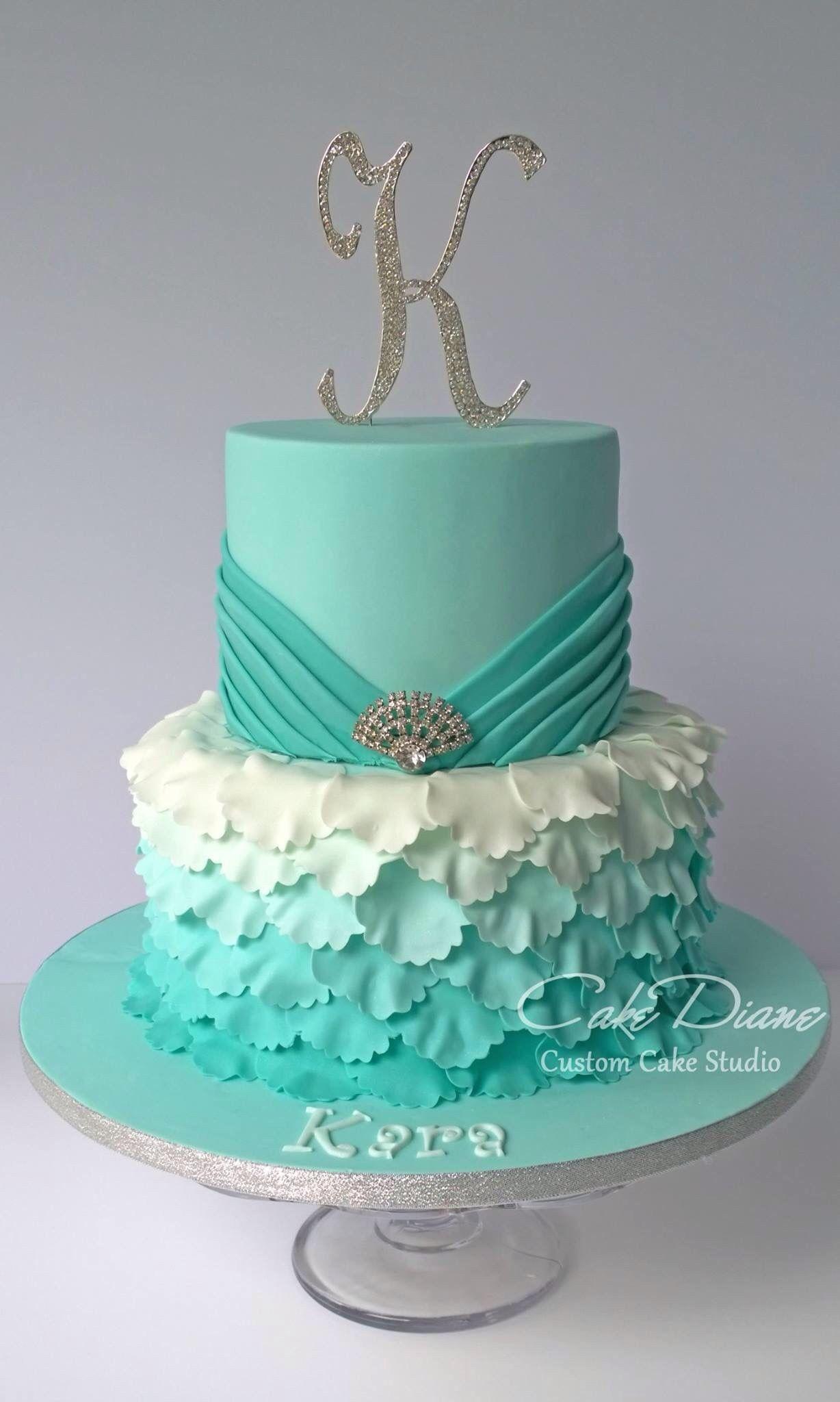 Awe Inspiring 21 Beautiful Image Of 15 Birthday Cakes With Images Sweet 16 Personalised Birthday Cards Bromeletsinfo