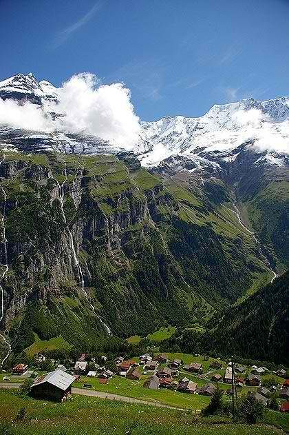 №26. Attempt to yodel here at Mountain Village, Gimmelwald, Switzerland..