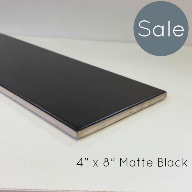 "Discount Glass Tile Store - Metro Subway Tile - Matte Black 4"" x 8"" Ceramic Wall Tile $3.49 per square foot (Matte Finish), $2.89 (http://www.discountglasstilestore.com/metro-subway-tile-matte-black-4-x-8-ceramic-wall-tile-3-49-per-square-foot-matte-finish/)"