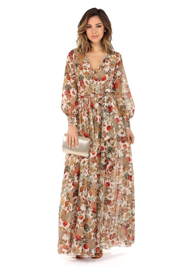Final sale catherine ivory floral romance dress
