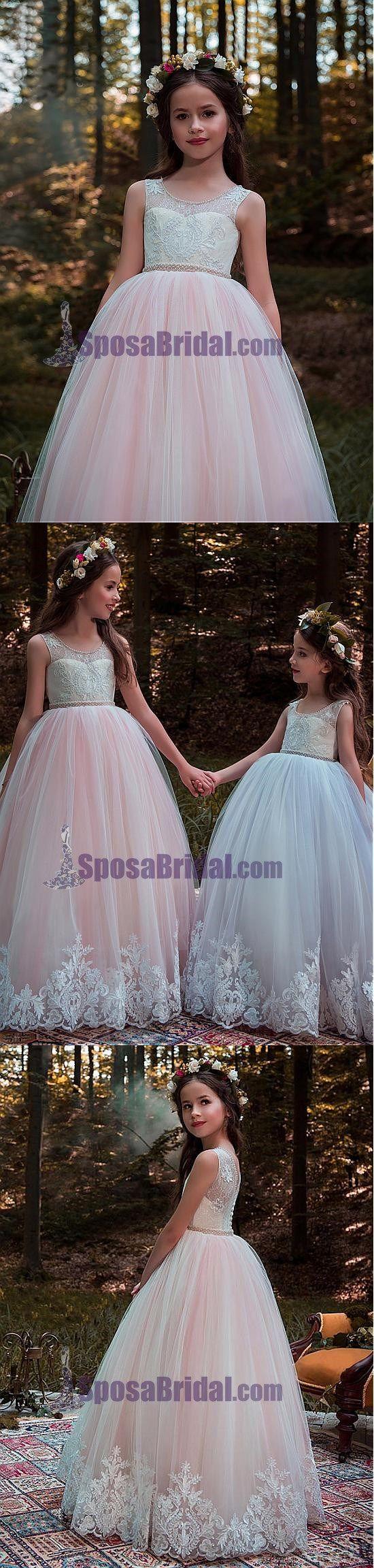 Rustic wedding flower girl dresses  Satin Formal Aling Affordable Cheap Elegant Flower Girl Dresses