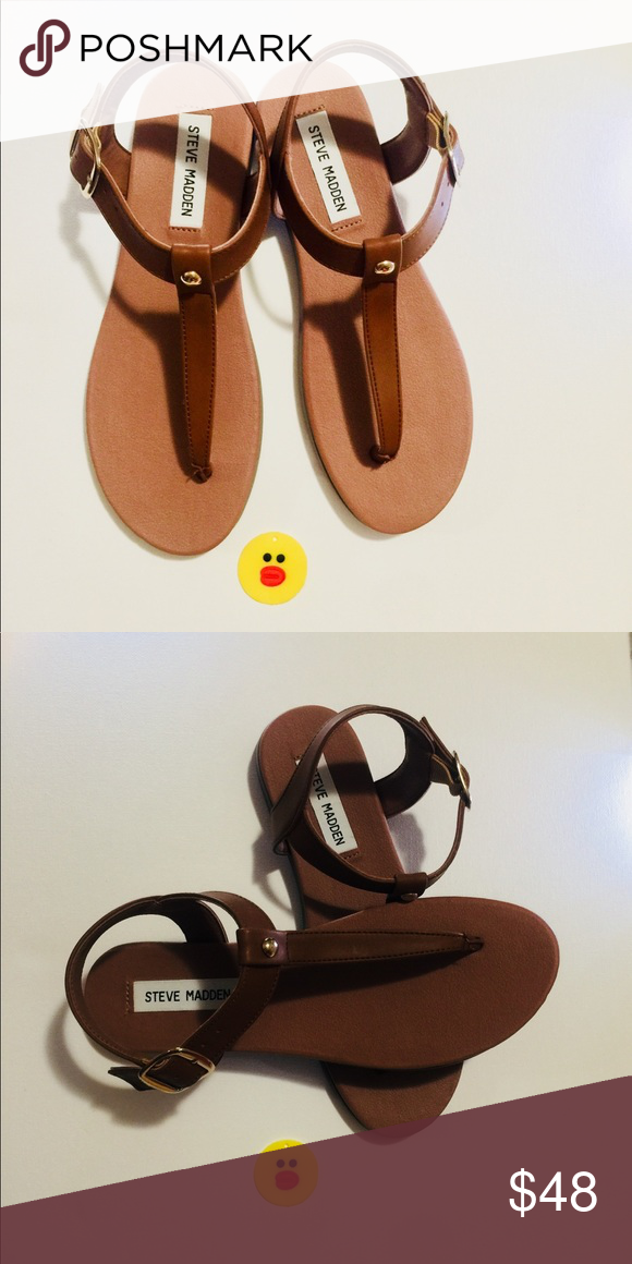 8d0e8b1dbdd NWT Steve Madden Chaya leather Cognac sandals These sandals are ...