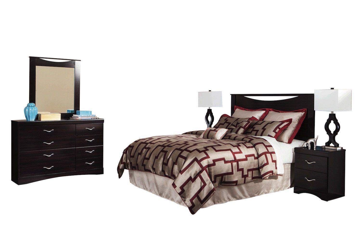 Ashley Zanbury 5pc Queen Full Panel Bedroom Set With Two