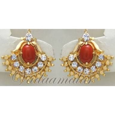 0a239588a Image result for kempu stone stud earrings india | who mach dots ...