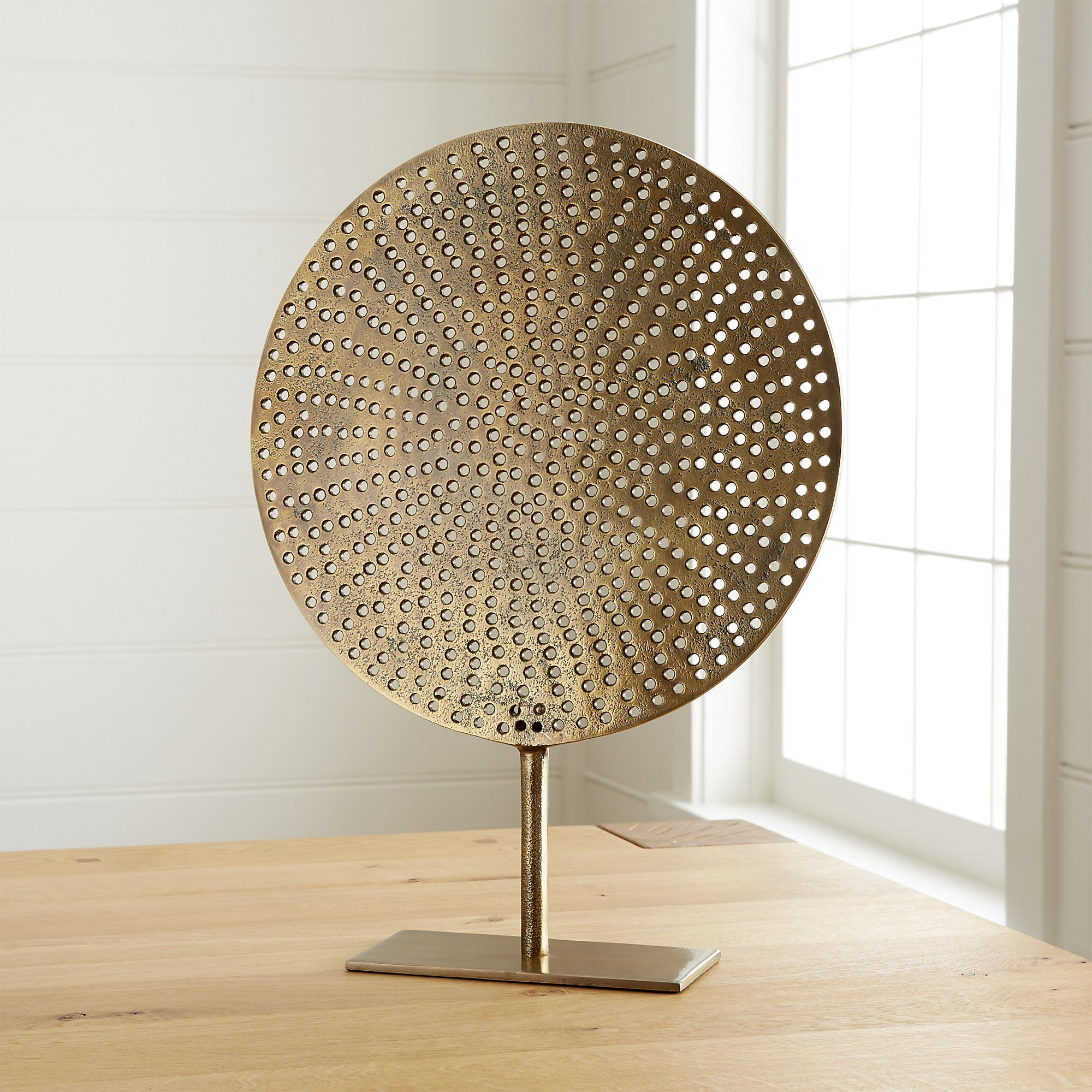 Modern Exhibition Stand Mixer : Brass circle on stand crate and barrel art pinterest