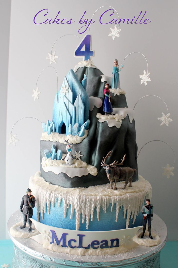 Disney Frozen North Mountain Cake Elsa Cake Frozen birthday cake