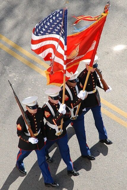 Salute The Flag And Honor Our Military At Parades Memorialday 4thofjuly United States Marine Corps Marine Corps Us Marine