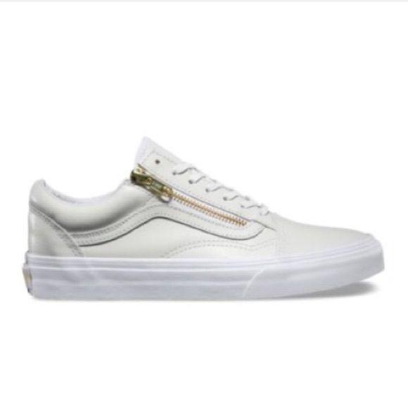 Vans Side Zip Sneaker | White leather