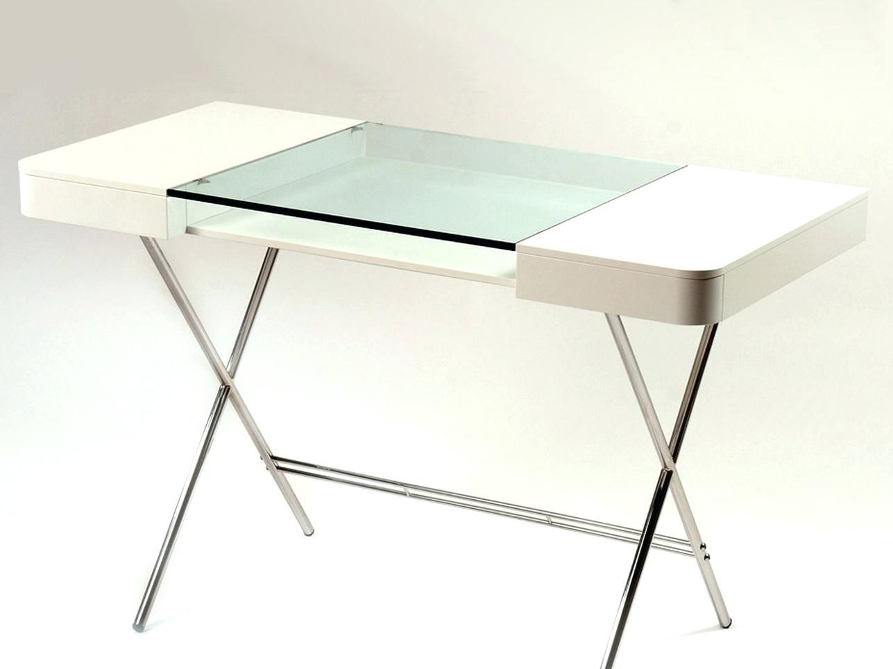 Osp Designs Glass Top Writing Desk