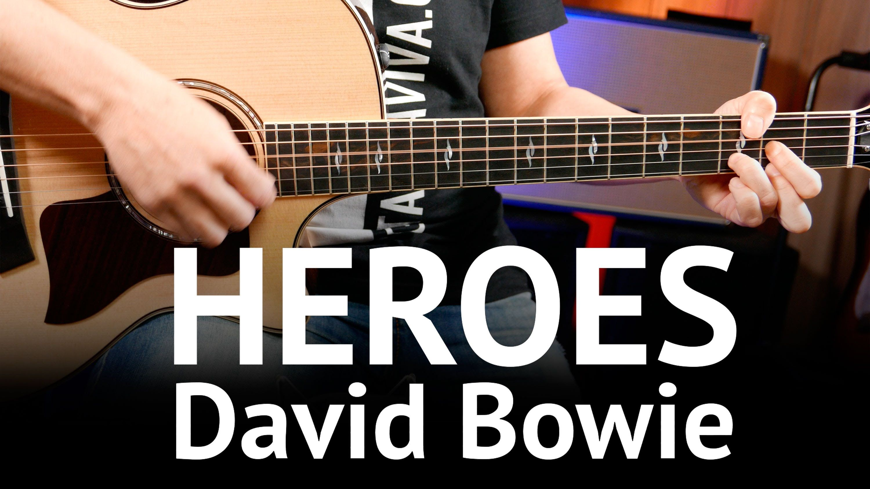 Heroes David Bowie Guitar Chords Cover On Guitar How To Play