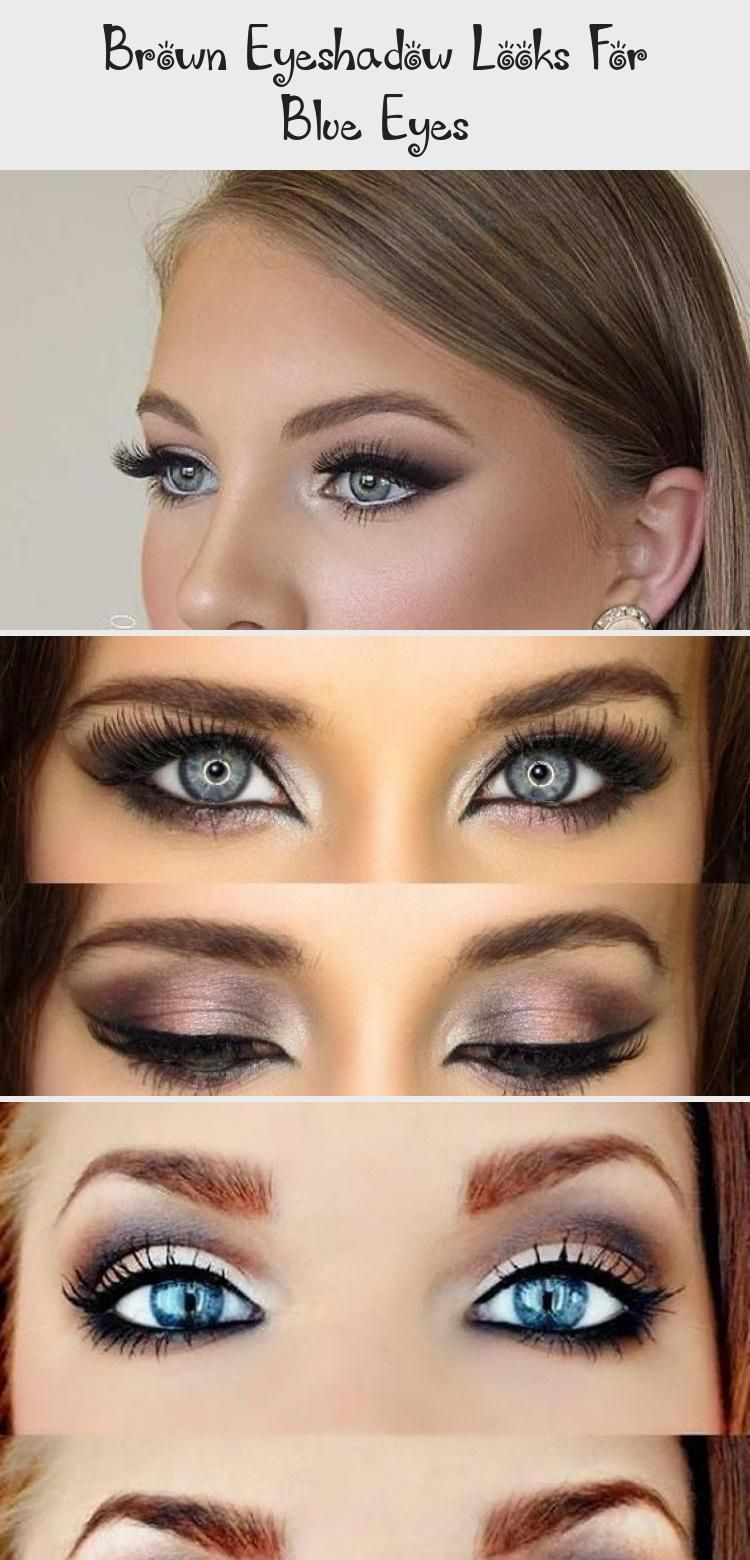 Brown Eyeshadow Looks For Blue Eyes #browneyeshadow