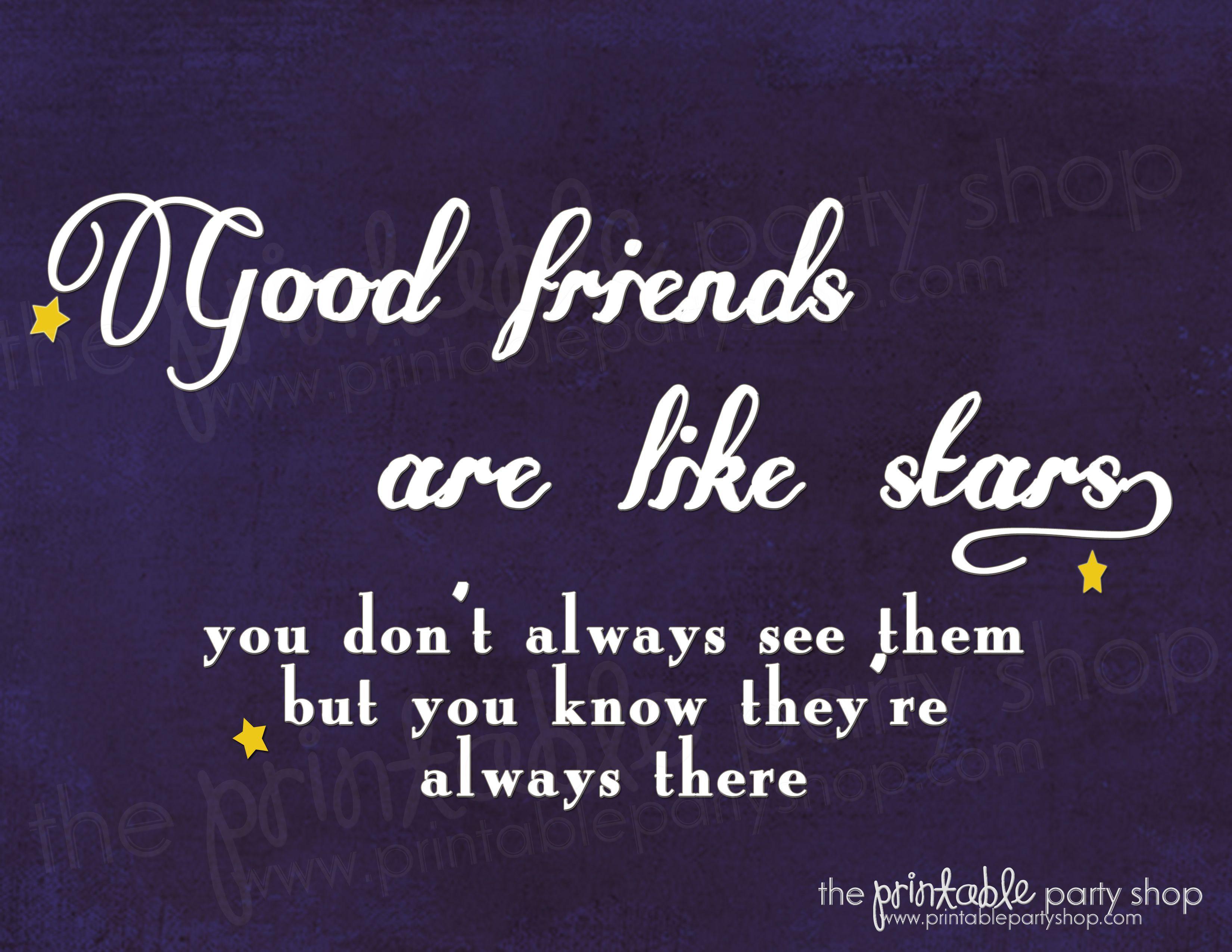 Good Friends Are Like Stars Wall Print Www