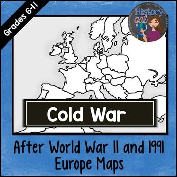 Cold war map activity cold war pinterest cold war map cold war map activity includes 2 cold war map worksheets europe after world war ii europe in 1991 answer keys are included gumiabroncs Gallery