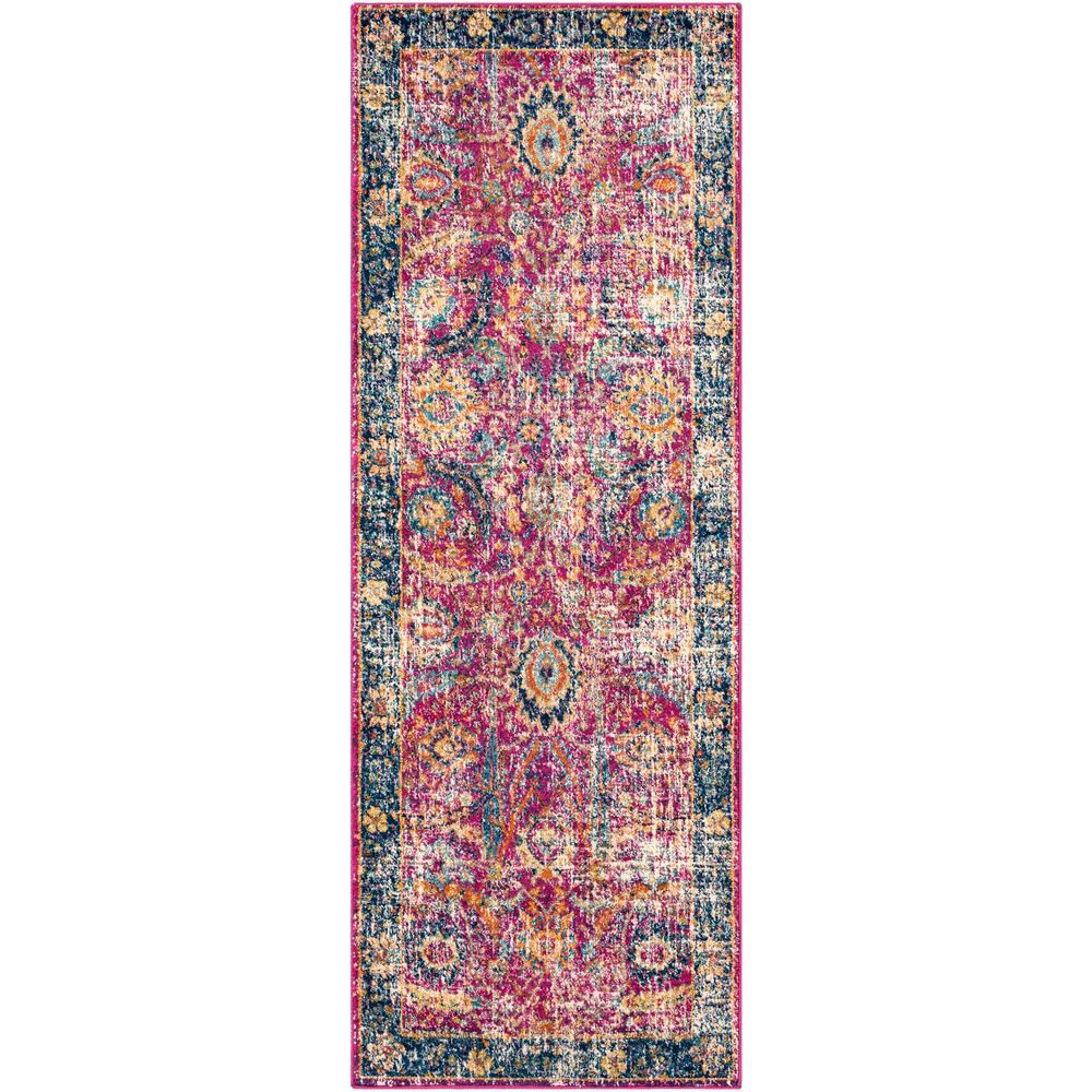 Artistic Weavers Demeter Garnet Navy 2 Ft 7 In X 10 Ft 3 In Runner Rug In 2020 Vintage Area Rugs Traditional Area Rugs Area Rugs