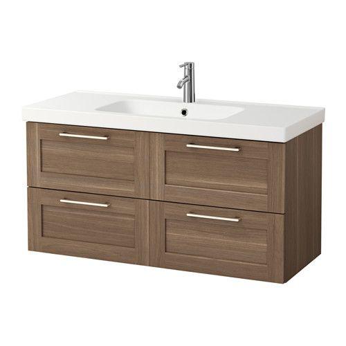 549$ GODMORGON / ODENSVIK Meuble pour lavabo, 4 tiroirs - effet