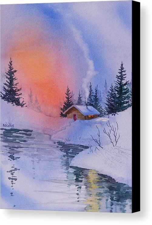 Safe And Warm Canvas Print Canvas Art By Teresa Ascone Winter