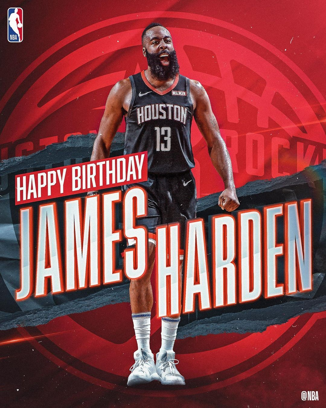 NBA Join us in wishing jharden13 of the houstonrockets