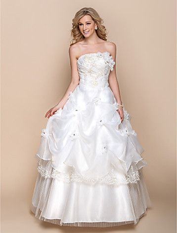 A-line Strapless Floor-length Organza Wedding Dress(937265) -   I do believe this is my dress. :)